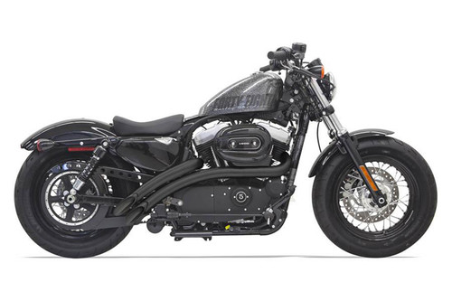 Bassani Sweeper Radius Exhaust for '14-up Sportster Models - Black