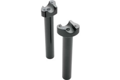 Drag Specialties Forged Aluminum Black Risers Straight, 8 Inch
