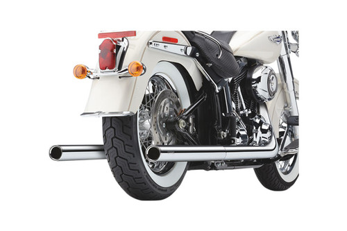 Cobra Bad Hombre Dual Exhaust System for '97-06 FLST/FXST Softail Models Chrome w/Billet Tips