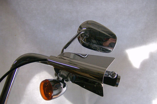 Great Bike Gear Hand Shields ALL YEARS V-ROD, ALL SCREAMING EAGLE MODELS & ALL MODELS WITH A HYDRAULIC CLUTCH -Chrome