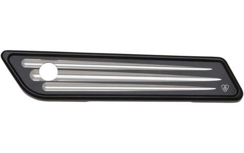 Arlen Ness Billet Saddlebag Latch Covers for '14-15 FLHT/FLHX/FLHR -Black, Deep Cut