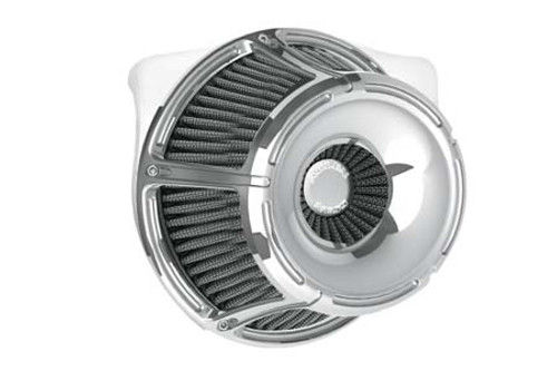 Arlen Ness Inverted Series Air Cleaner Kits for '88-Up XL -Slot Track -Chrome