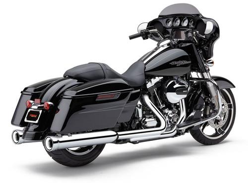 Cobra 4-inch Neighbor Hater Slip-On Mufflers for '17-Up Harley Davidson Touring Models - Chrome (6109)