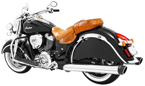 Freedom Performance Liberty 4 inch Slip-On Exhaust  for '14-Up Vintage/Classic  Chrome w/Black Tip