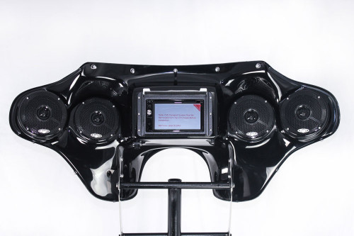 Hoppe Quadzilla Touch Fairing with Navigation for '96-Up Harley Davidson Road King FLHR