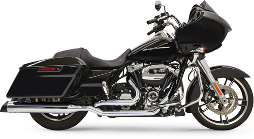 Bassani True Dual Down Under Head Pipes for 2017-Up Harley Davidson Touring - Chrome (Uses '95-16 Mufflers Sold Separately)