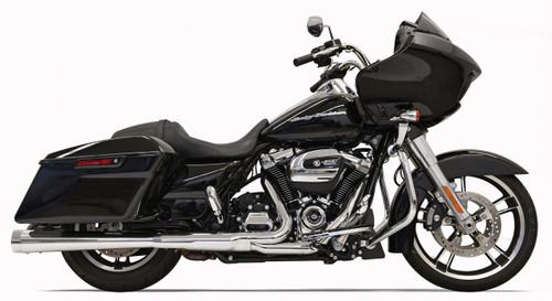 Bassani 4 inch Megaphone Muffler Muffler DNT for Harley Davidson Touring Models '17-Up -Chrome with Chrome End Cap