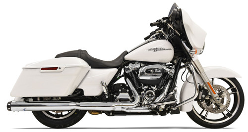 Bassani 4 inch Slip-On Quick Change Mufflers for Harley Davidson Touring Models '17-Up - Chrome