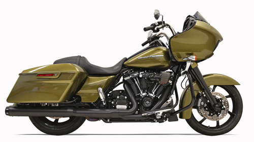 Bassani 4 inch Slip-On Quick Change Mufflers for Harley Davidson Touring Models '17-Up - Black