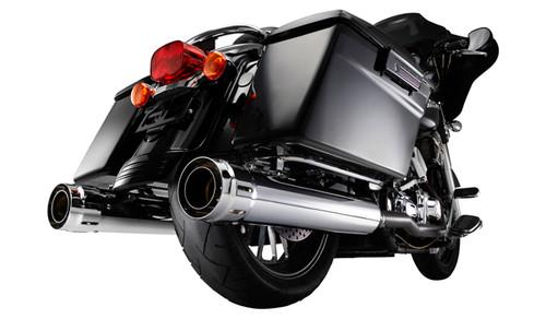 "Firebrand 4"" Loose-Cannon Slip-On Mufflers for '17 FL Models -Chrome"