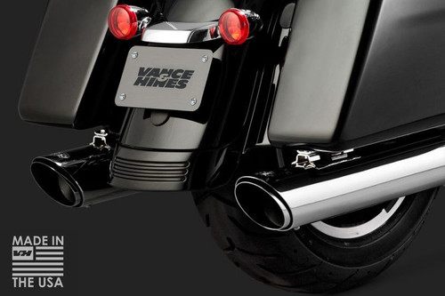 16672 Vance and Hines Twin Slash Round Slip Ons in Chrome