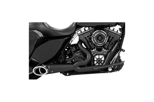 Freedom Performance 2-into-1 Turn Out Exhaust System for '17-Up Harley Davidson Touring Models - Black w/ Chrome Tips
