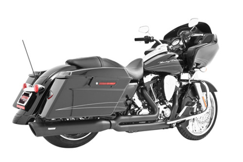 Freedom Performance Exhaust Union 2-Into-1 for '17-Up Harley Davidson Touring  Models - Black w/ Black End Caps
