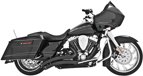 Freedom Performance Exhaust Sharp Curve Radius for '17-Up Harley Davidson Touring Models - Black w/ Black End Cap