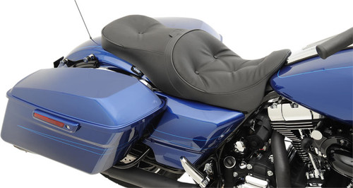 Drag Specialties Seats Forward-Positioning Low Profile Touring Seat for Harley Davidson Touring Models 2008-Up  -Pillow