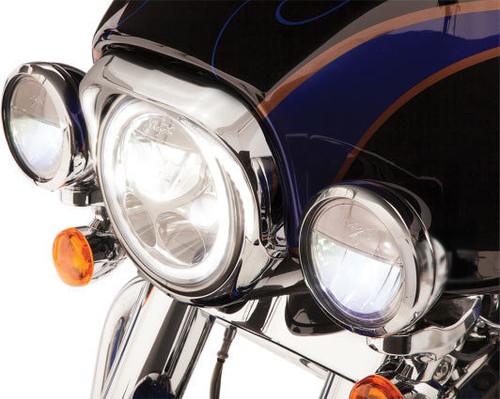 Ciro Headlight Bezels for '96-13 FLHT/FLHR/FLHX/FLHCUTG - Chrome