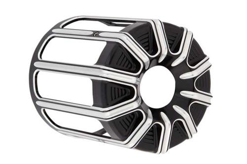 Arlen Ness 10 Gauge Oil Filter Cover for Harley Davidson Models - Contrast Black [03-482]