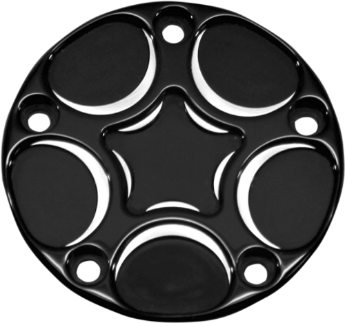 Carl Brouhard Designs Points Cover for '99 & Up Twin Cam -Spiro Series, Black