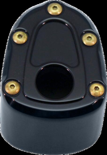 Carl Brouhard Ignition Switch Cover for '14 & Up FLHT/FLHX/FLHTX/FLHTCUTG Models -Bomber Series, Black