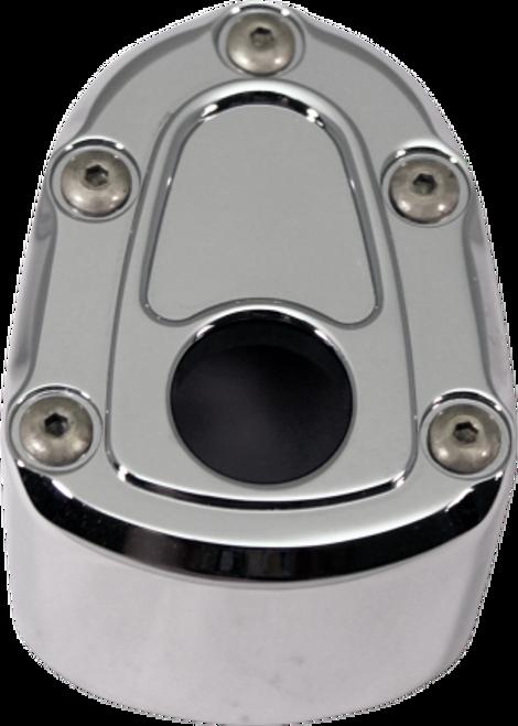 Carl Brouhard Ignition Switch Cover for '07-13 FLHT/FLHX/FLTR & FL Trike -Bomber Series, Chrome