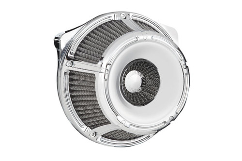 Arlen Ness Inverted Series Air Cleaner Kits for '17-Up Harley Davidson Touring and Trike Models - Slot Track Chrome (18-914)