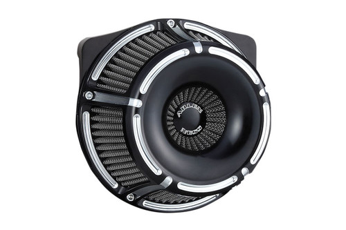 Arlen Ness Inverted Series Air Cleaner Kits for '17-Up Harley Davidson Touring and Trike Models -  Black Anodized [18-915]
