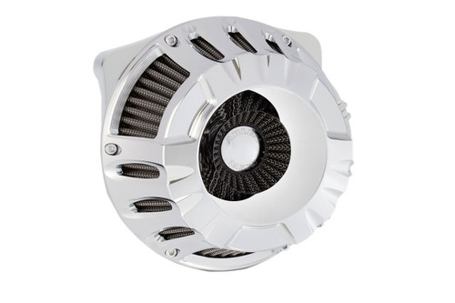 Arlen Ness Inverted Series Air Cleaner Kits for '17-Up Harley Davidson Touring and Trike Models - Deep Cut - Chrome [18-916]