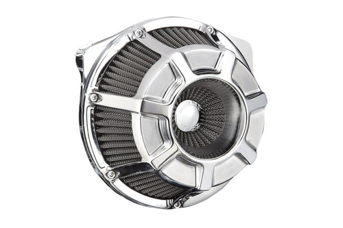 Arlen Ness Inverted Series Air Cleaner Kits for '17-Up Harley Davidson Touring and Trike Models - Bevelled - Chrome [18-918]