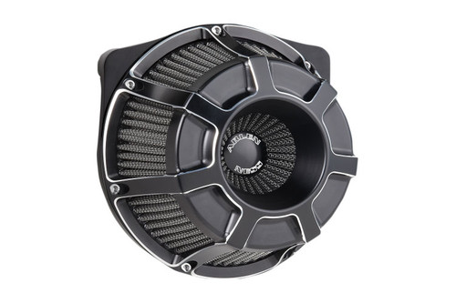 Arlen Ness Inverted Series Air Cleaner Kits for '17-Up Harley Davidson Touring and Trike Models - Bevelled, Black Anodized [18-919]
