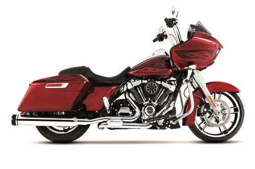 Rinehart Racing Slimline Duals Header Kit for Harley Davidson Touring Models '17-Later Chrome [100-0452]
