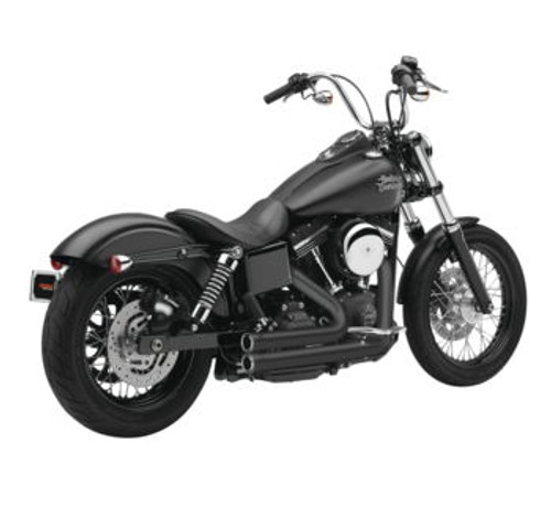 Cobra 909 2-Into-2 Exhaust Systems for '12-17 FXD/FXDWG -Black (Shown in Chrome)