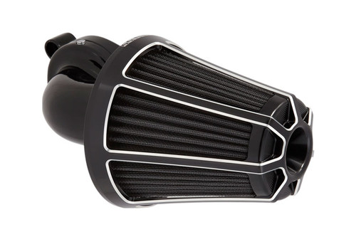 Arlen Ness Monster Sucker Air Kit Beveled Cover, Black for Harley Touring, '08-16 Softail Models, '16-Up FXDLS