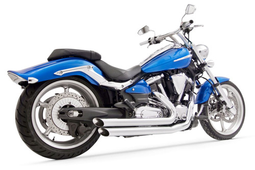 Freedom Performance Amendment Slash-Out Exhaust for '08 & Up Yamaha Raider -Chrome