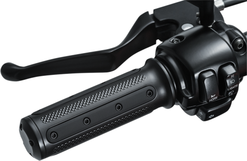Kuryakyn Heavy Industry Grips for Certain '08-Up Electronic Throttle Control -Black