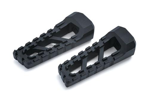Kuryakyn Riot Footpegs in Satin Black - Requires Model Specific Splined Adapter (Sold Separately) [3599]