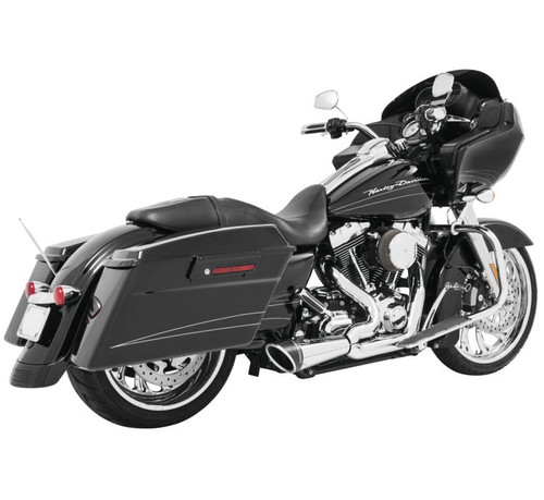 Freedom Performance Combat 2-Into-1 Shorty Exhaust for '17 & Up FL Models -Chrome w/ Black End Cap