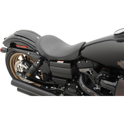 Drag Specialties Low Solo Seat for Harley Davidson Dyna Models '06-17 - Carbon Fiber
