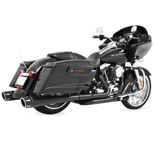 Freedom Performance 4.5 inch Combat Dresser Slip-On Mufflers for '17-Up Harley Davidson Touring Models -Black