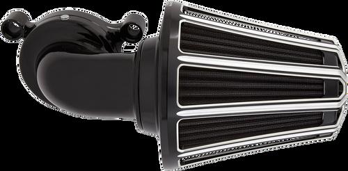 Arlen Ness Monster Sucker 10 Gauge Series Air Cleaner Kits for Harley Touring 2017-Up, Black