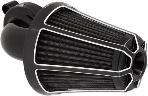 Arlen Ness Monster Sucker Beveled Series Air Cleaner Kits for Harley Touring 2017-Up, Black