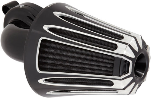Arlen Ness Monster Sucker Deep Cut Series Air Cleaner Kits for Harley Touring 2017-Up, Black