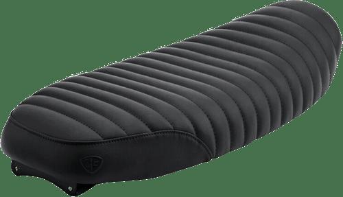 British Customs Tuck N Roll Slammer Seat for Triumph Models Black