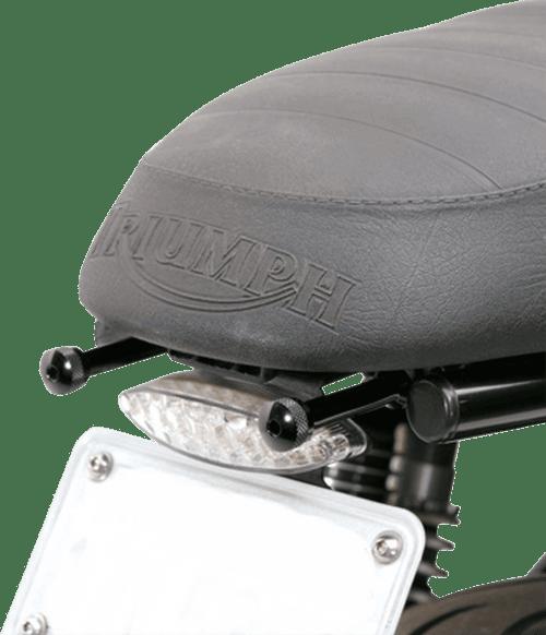 British Customs Quick Release Seat Screws for Triumph Models -Black
