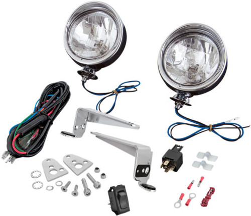 show chrome halogen driving light kit for victory cross country