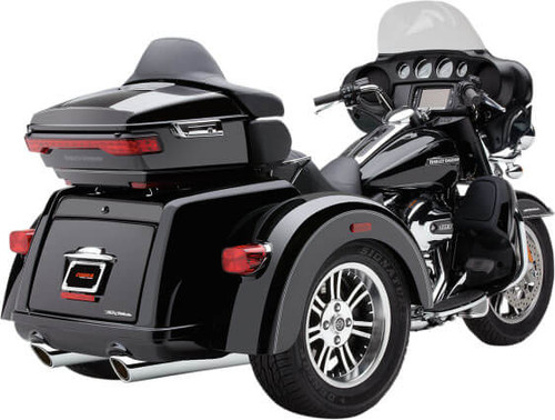 Cobra 909 Slip On Mufflers for '09 & Up Tri-Glide & Street Glide Trikes - Chrome