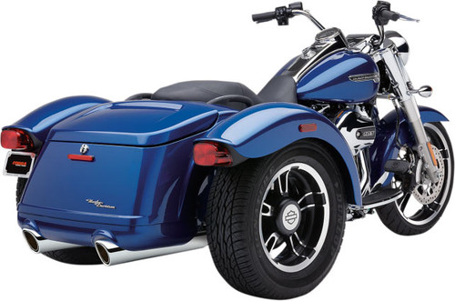 Cobra 909 Slip On Mufflers for '15-Up FLRT Freewheeler - Chrome