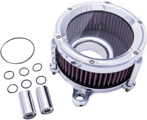 Trask Assault Charge High Flow Air Cleaner Kit for Harley Davidson Touring Models '17-Up Chrome