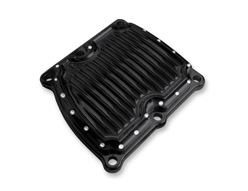 Covingtons Customs Transmission Top Cover for Milwaukee Eight '17-Up - Gloss Black Dimpled