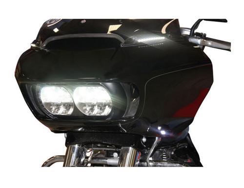 Custom Dynamics Windshield Trim with Turn Signals for Harley Davidson FLTRX Models '15-Up - Chrome