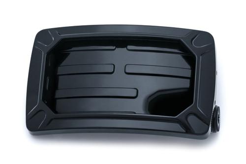 Kuryakyn Nova Horizontal Side Mount License Plate Holder - Gloss Black